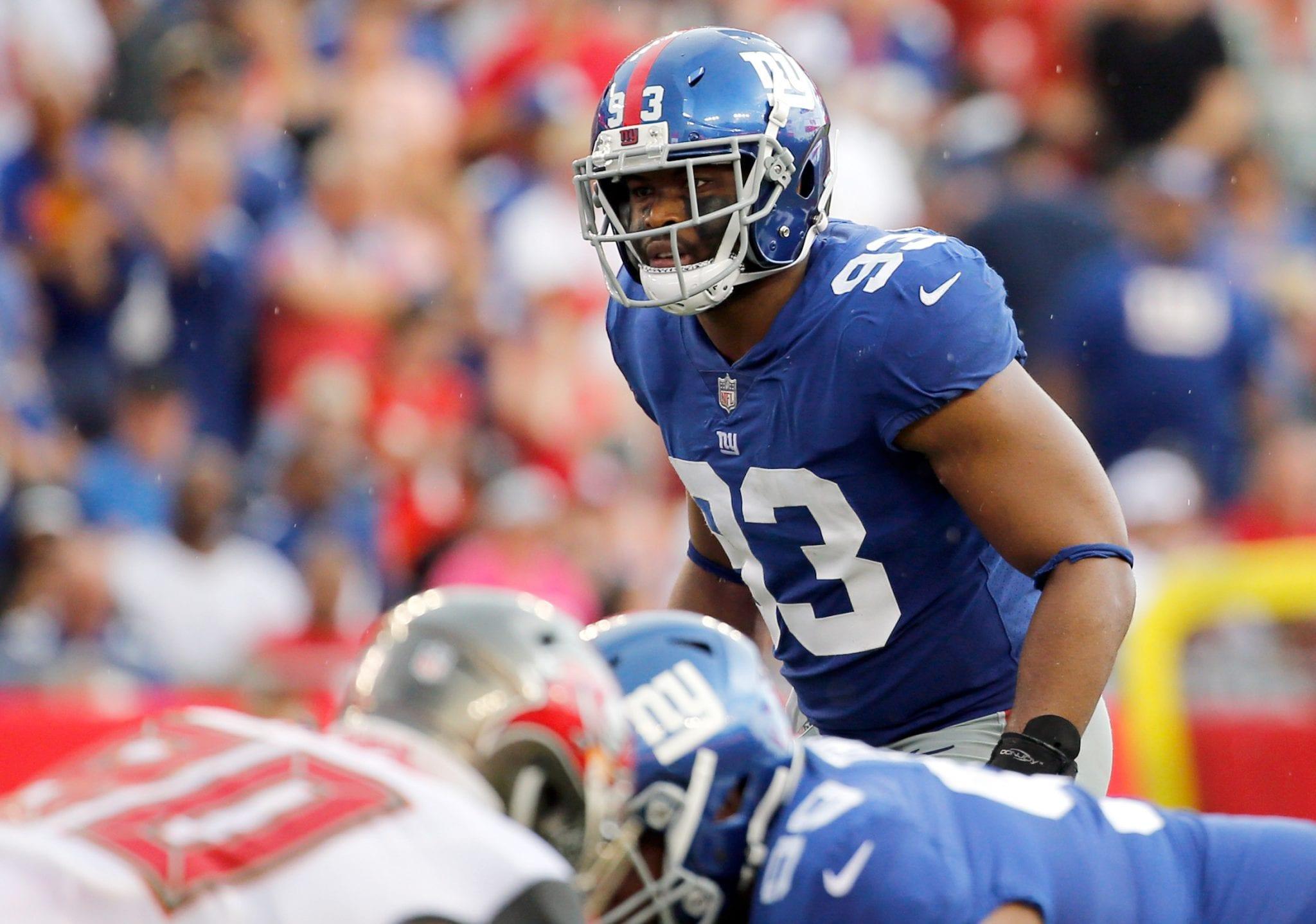 New York Giants linebacker, B.J. Goodson.
