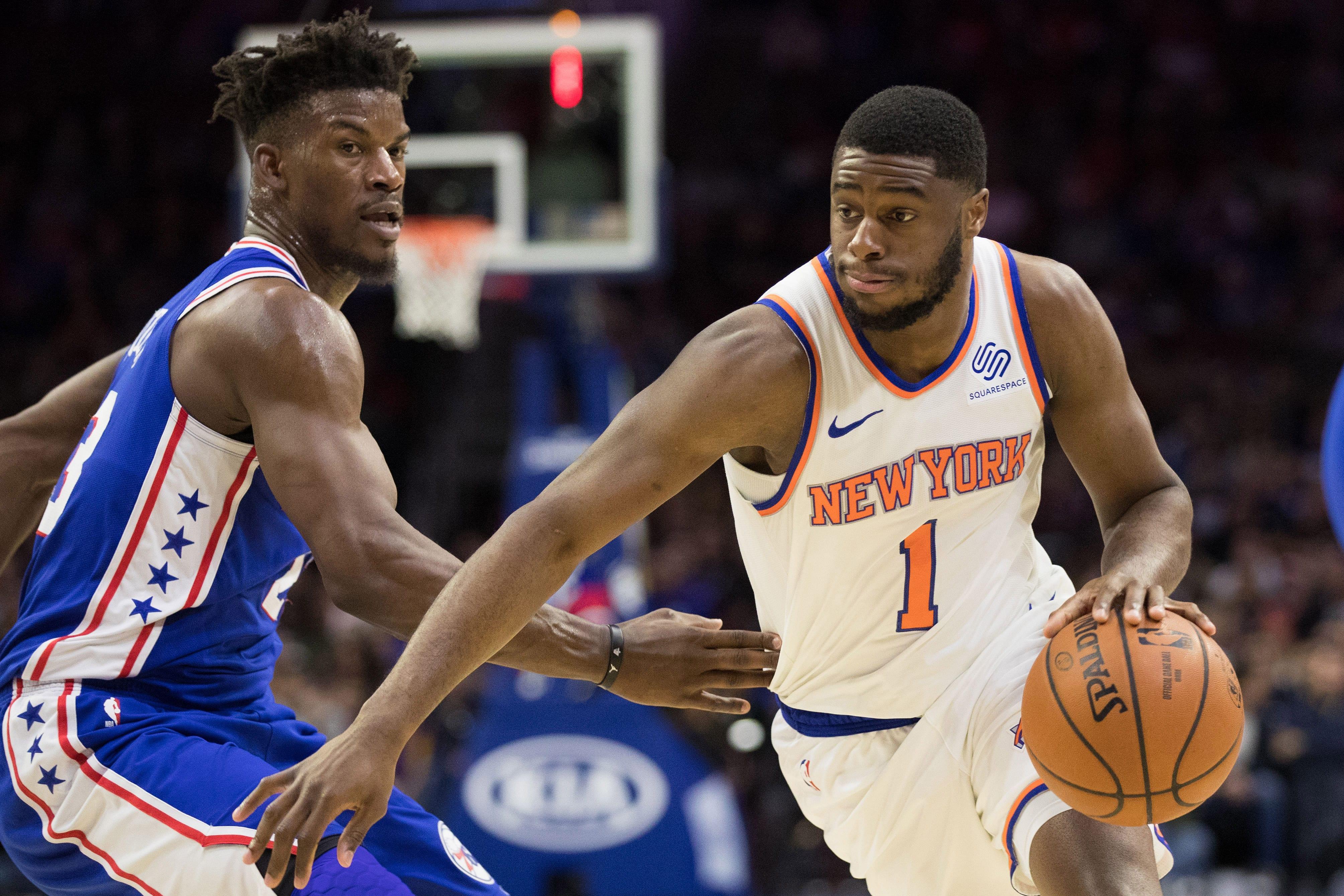 New York Knicks point guard, Emmanuel Mudiay.