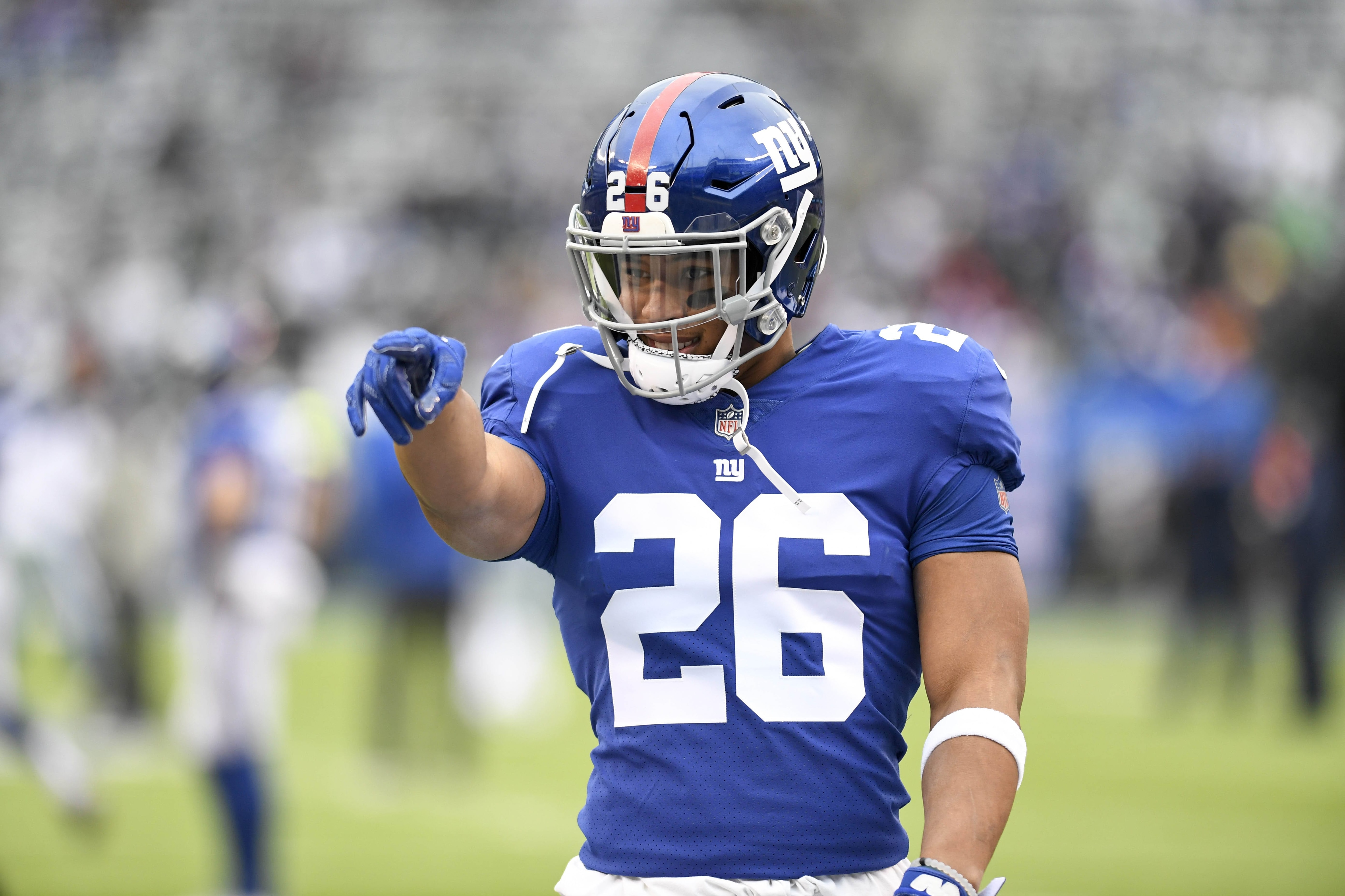 huge selection of 5d336 a62be New York Giants: Saquon Barkley Claims To Be Top RB In The ...