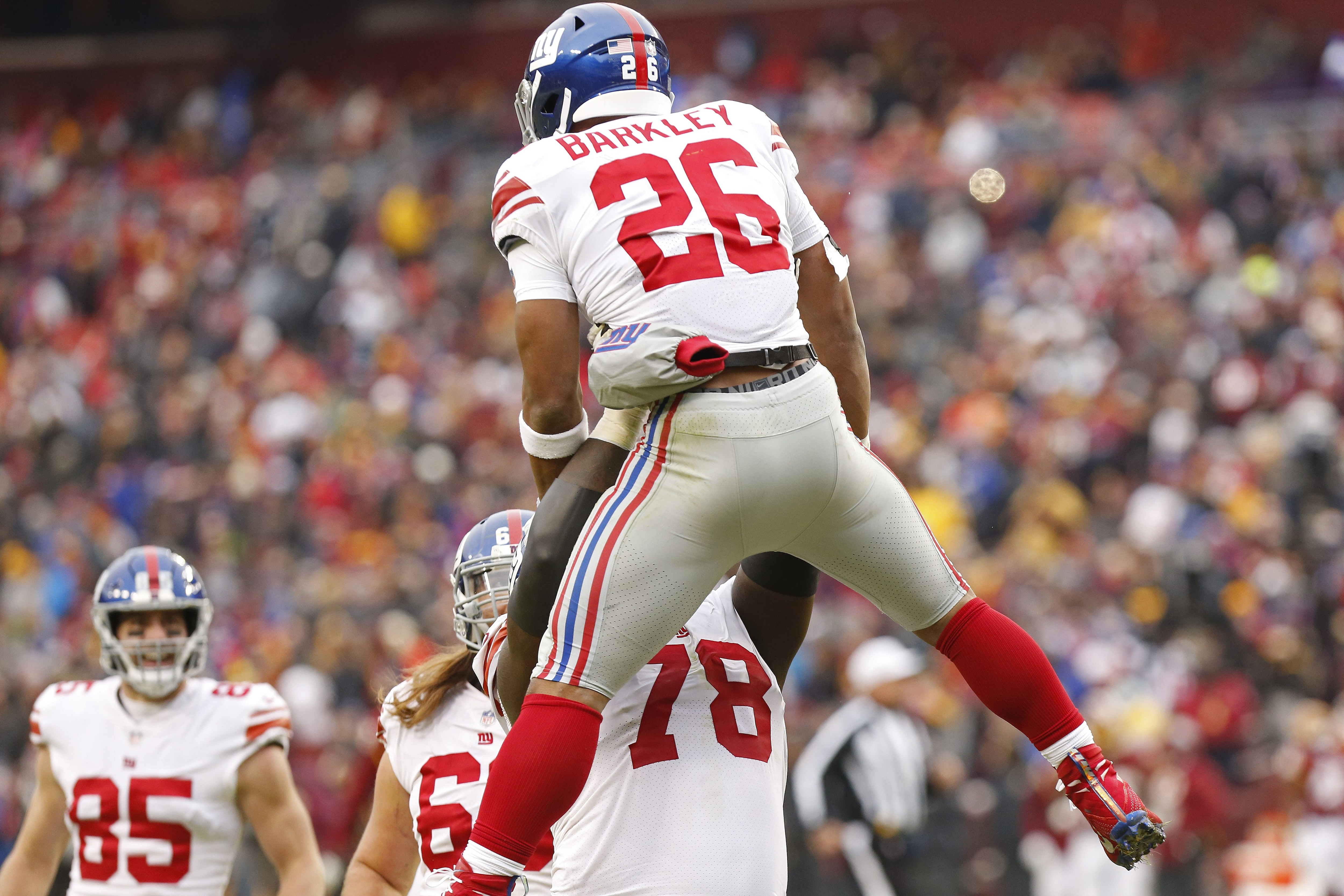 New York Giants running back, Saquon Barkley.