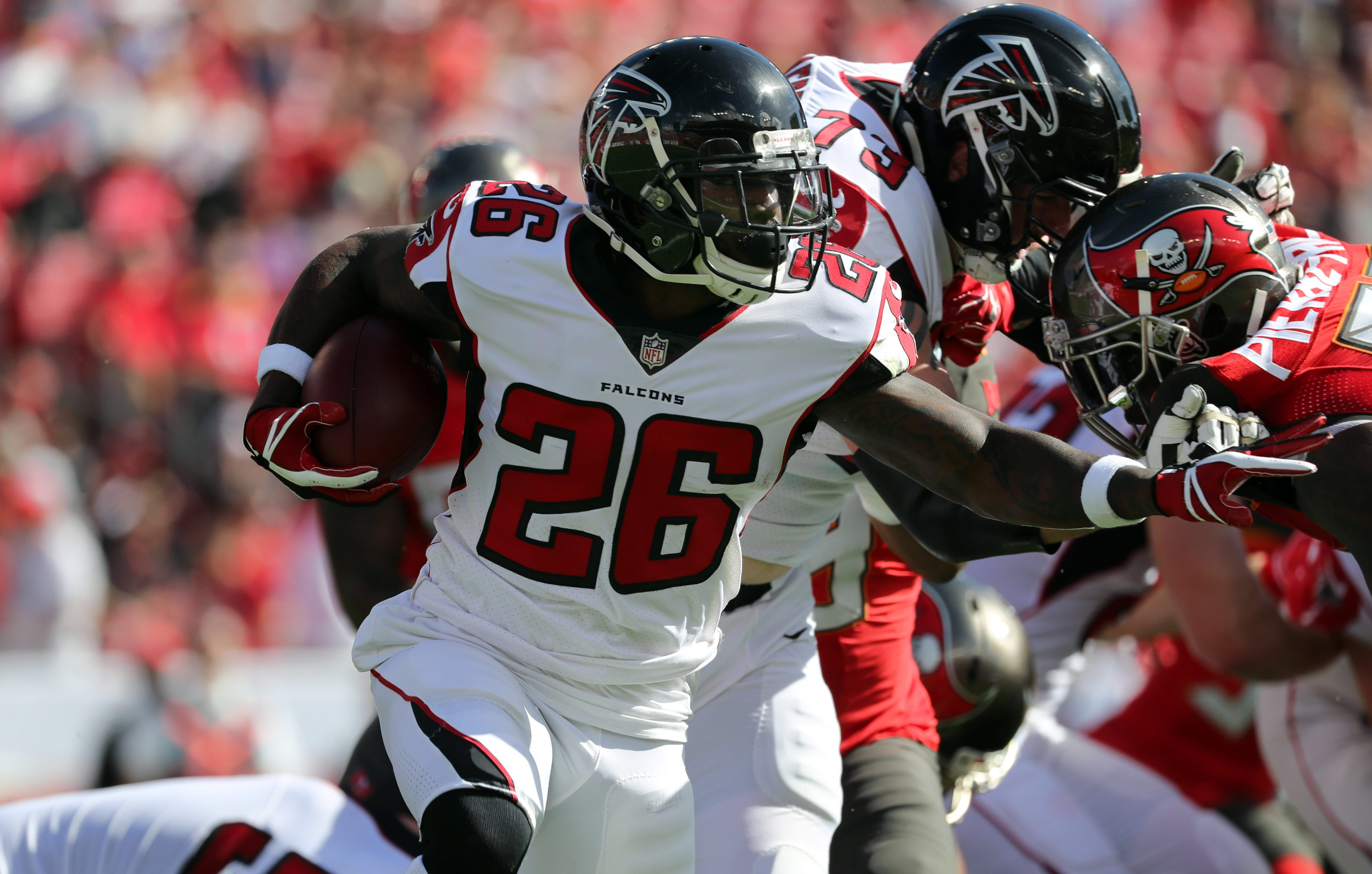 New York Jets potential free agency target Tevin Coleman.