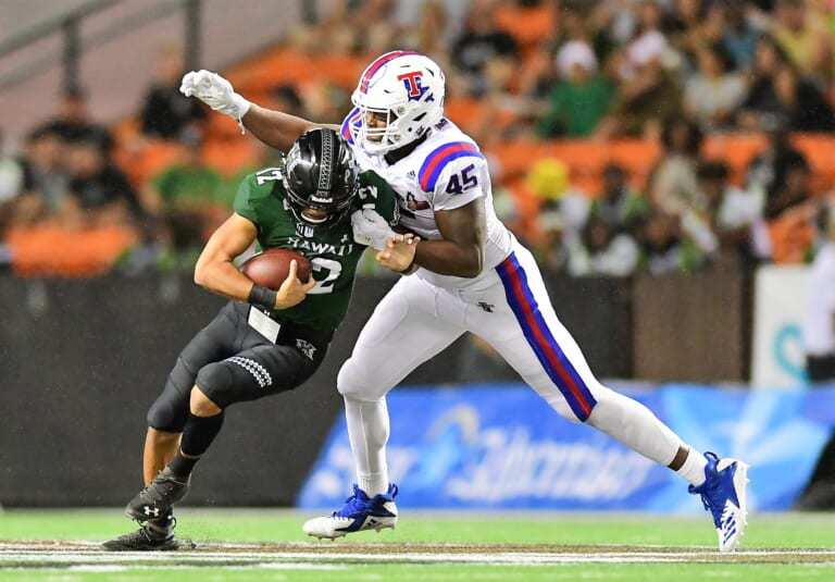 The New York Giants should consider Jaylon Ferguson in the second round of the 2019 NFL Draft.