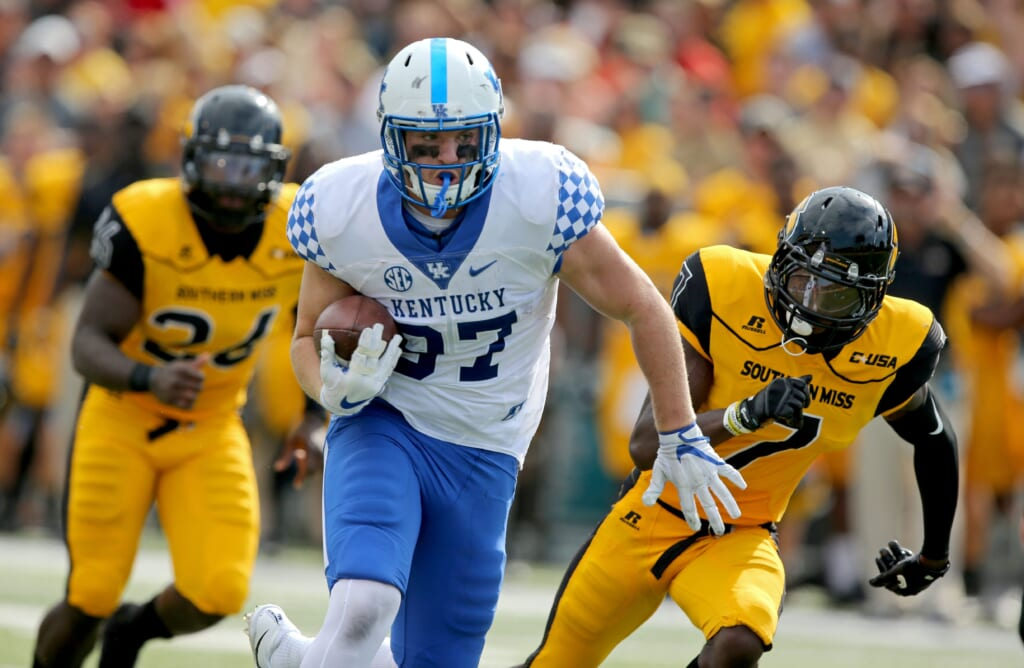 The New York Giants signed Kentucky tight end C.J. Conrad as an undrafted free agent.