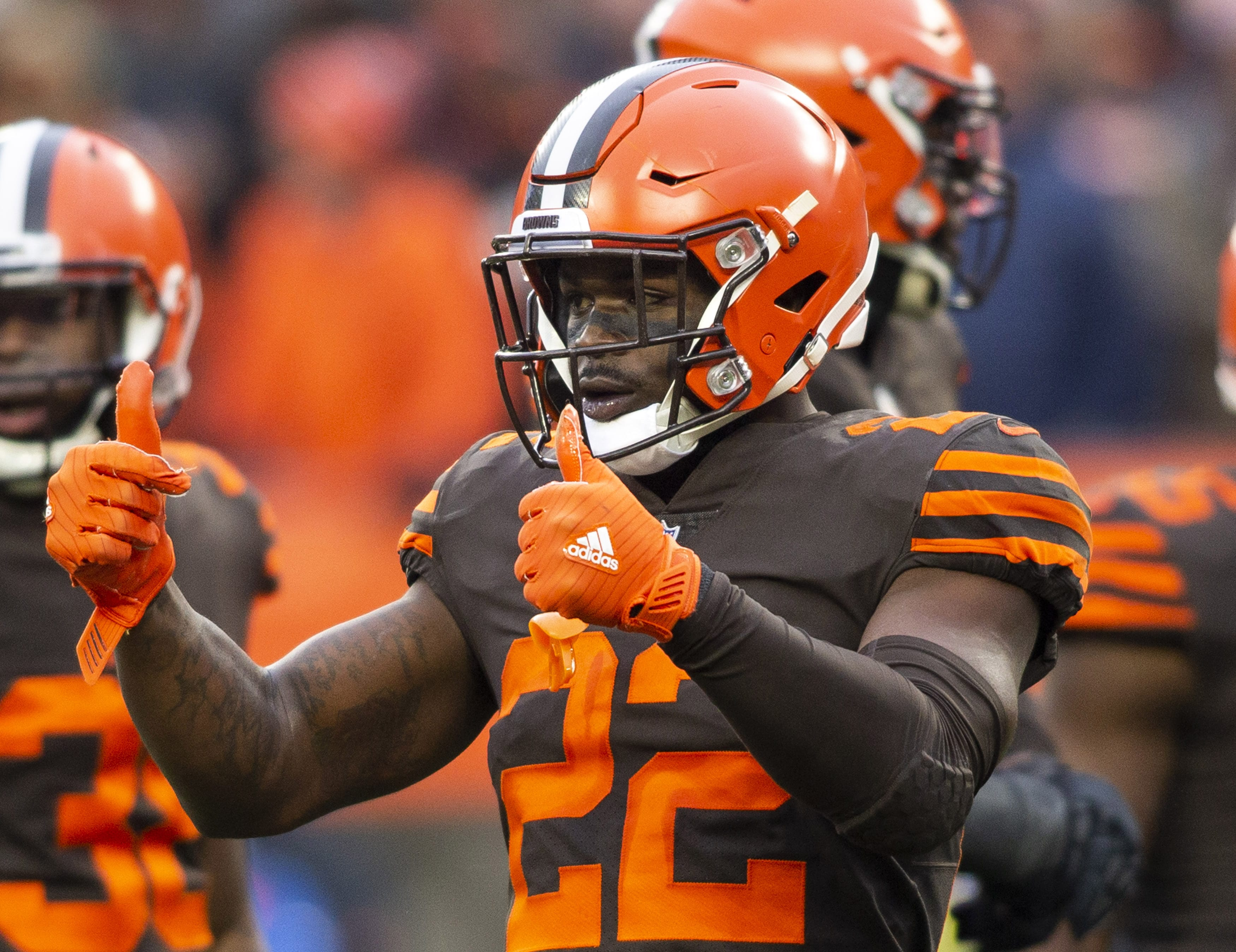 The New York Giants traded Odell Beckham Jr. to the Cleveland Browns that sent Jabrill Peppers to New York.