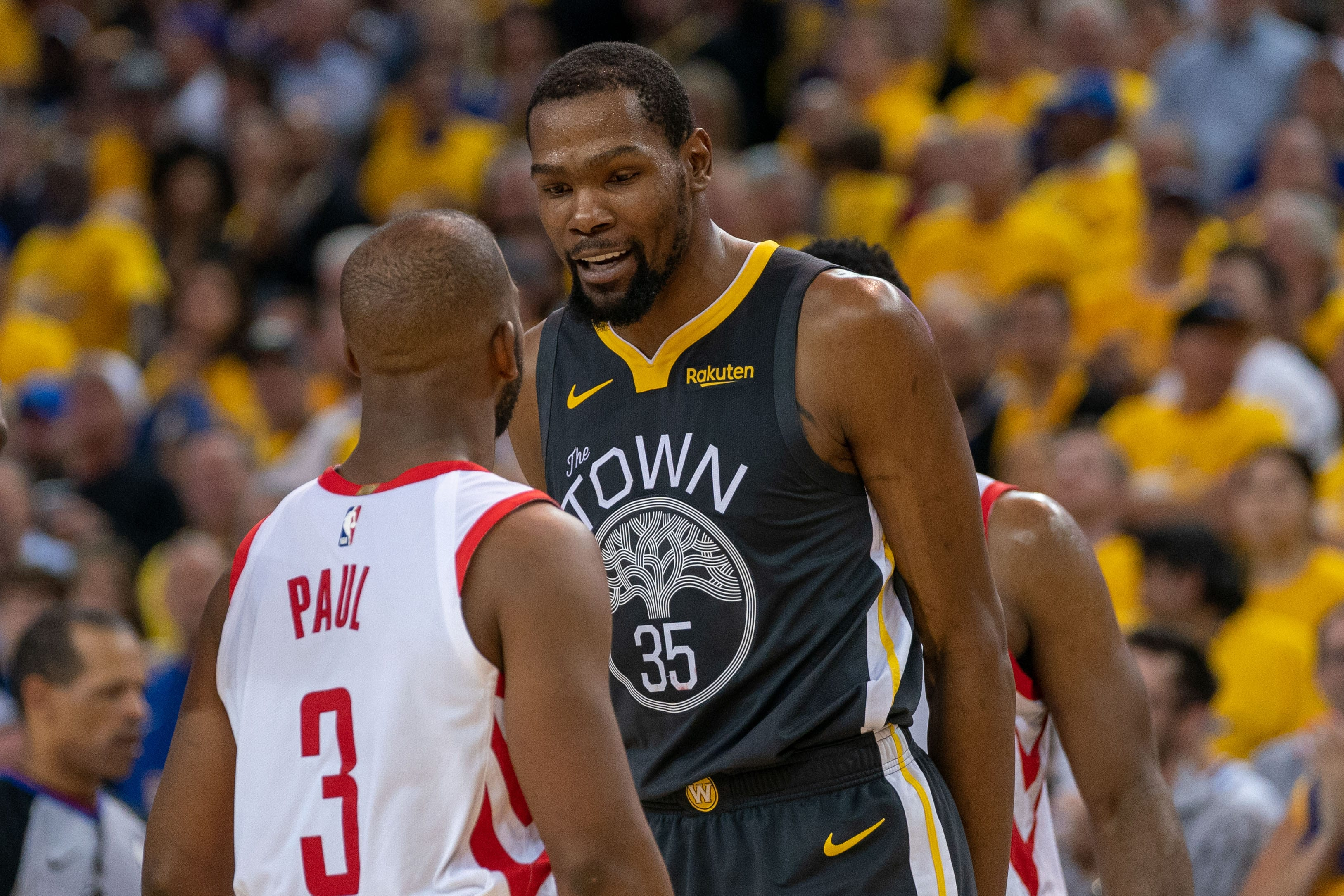 Chris Paul and Kevin Durant.