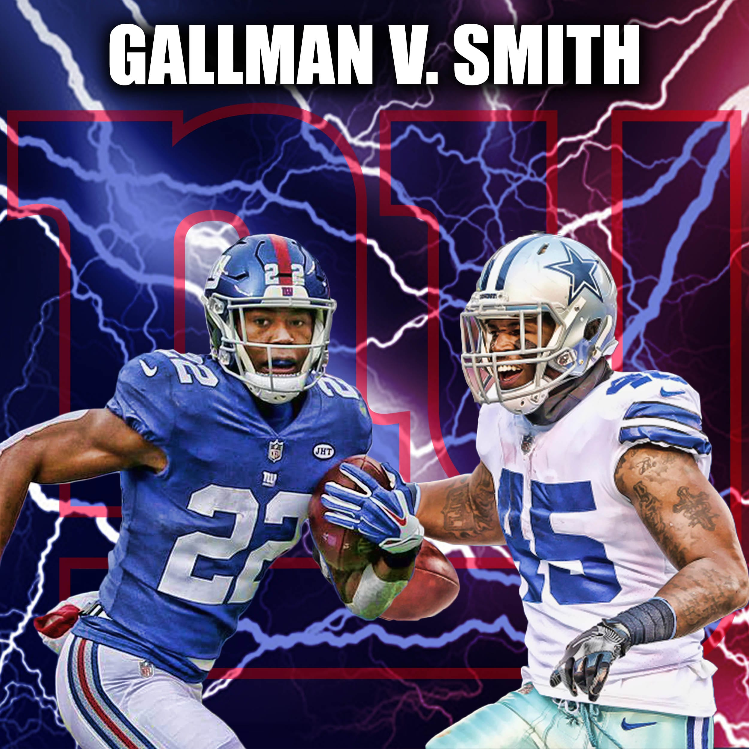New York Giants, Wayne Gallman, Rod Smith
