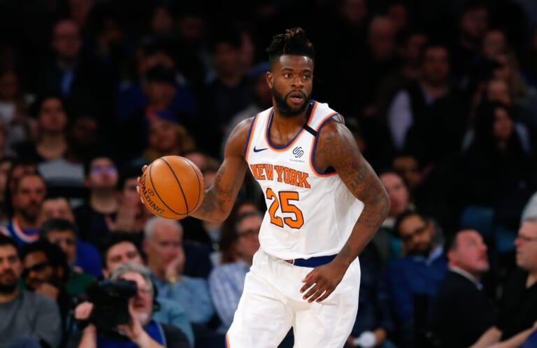 Reggie Bullock of the New York Knicks