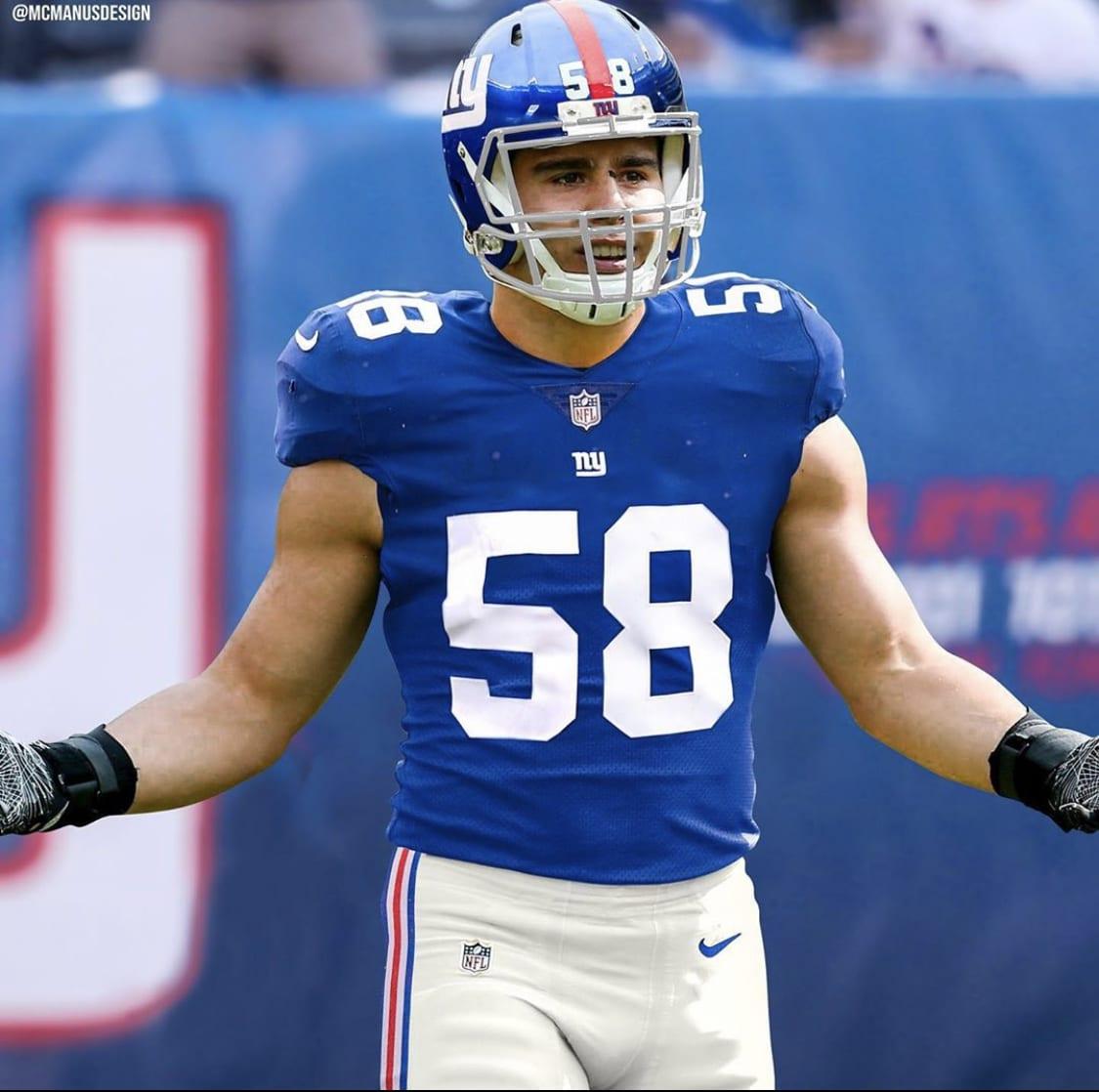 New York Giants, Blake Martinez, McManus Designs