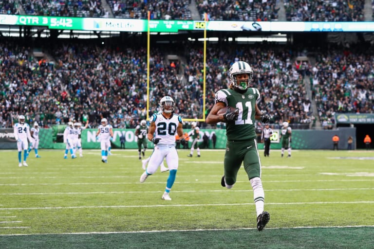 robby anderson running a touchdown against the carolina panthers