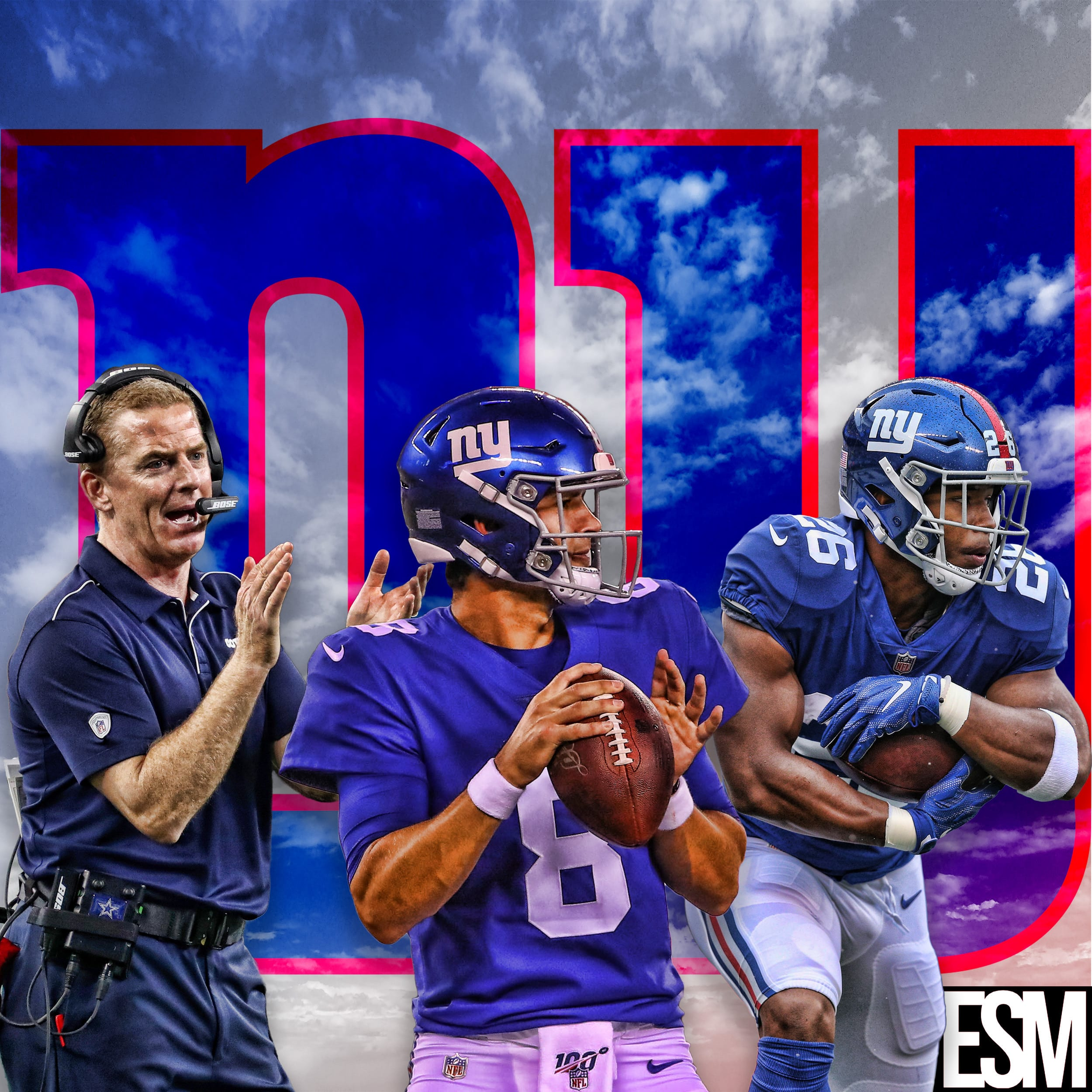 New York Giants, Jason Garrett, Daniel Jones, Saquon Barkley