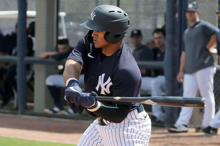 WATCH: Yankees' monster prospect Jasson Dominguez launches homers