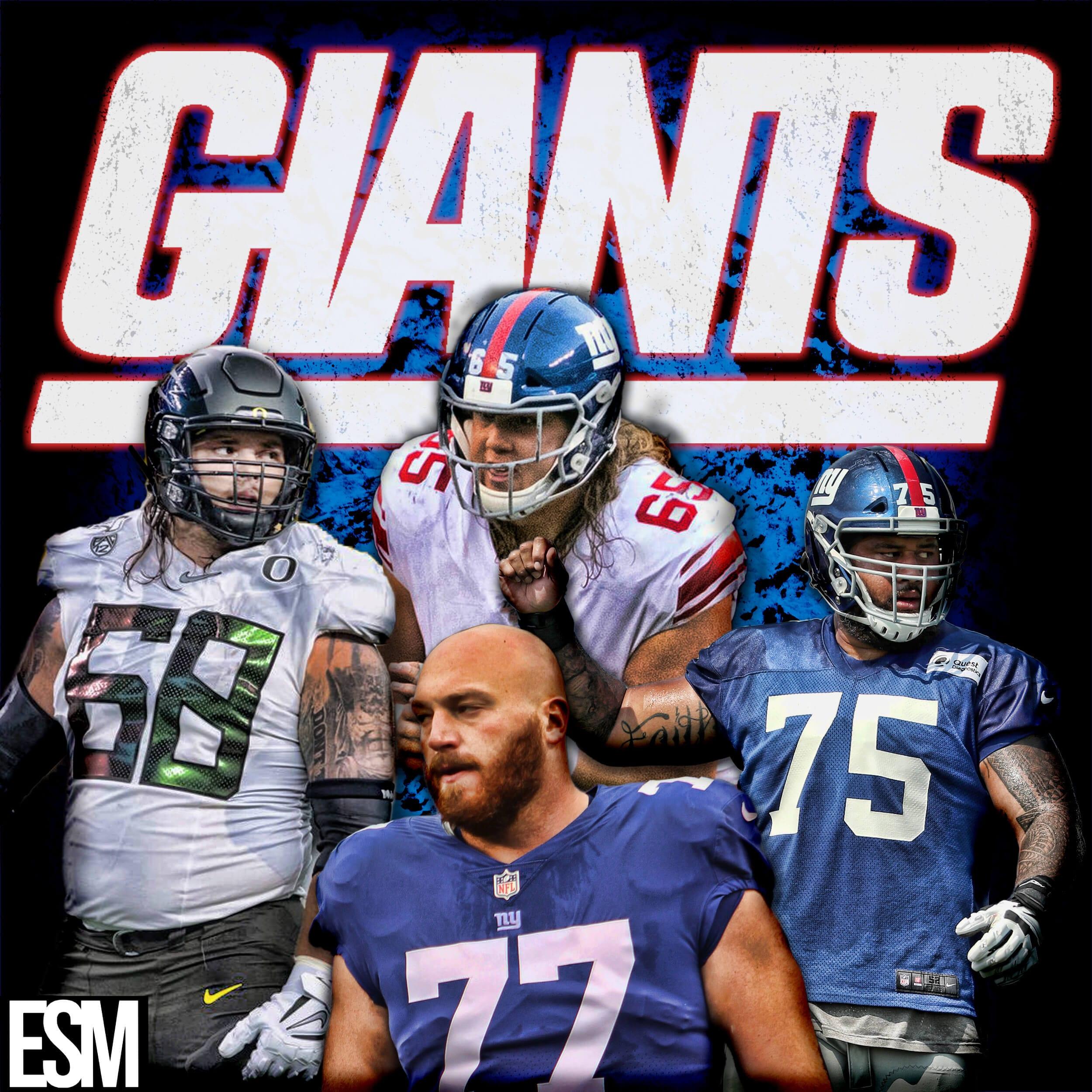 New York Giants, Spencer Pulley, Jon Halapio, Nick Gates, Shane Lemieux