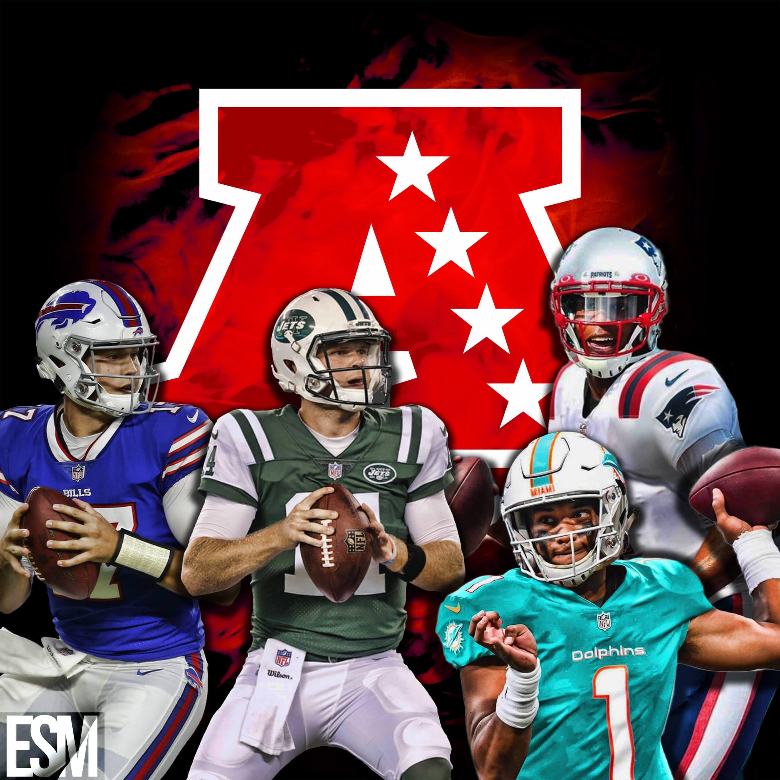 New York Jets, Miami Dolphins, Buffalo Bills, New England Patriots, Sam Darnold, Tua Tagaviola, Cam Newton