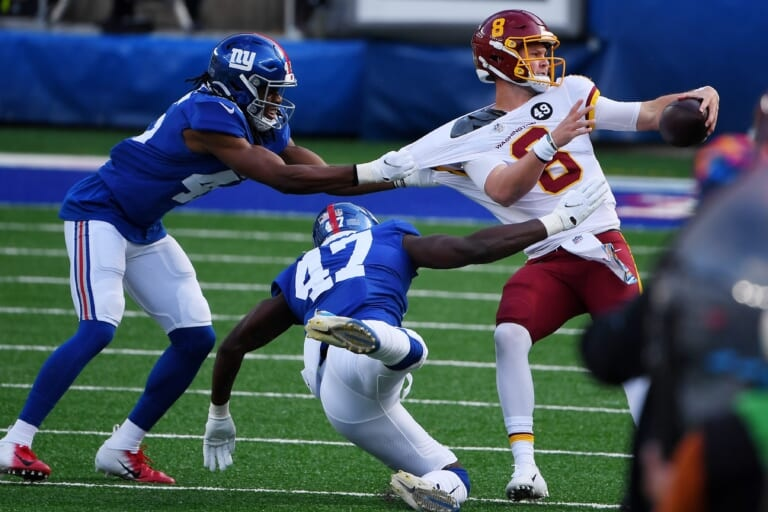 What is the New York Giants' biggest weakness on defense?