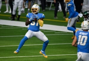 Ex-New York Jet Kalen Ballage finds a role in Los Angeles