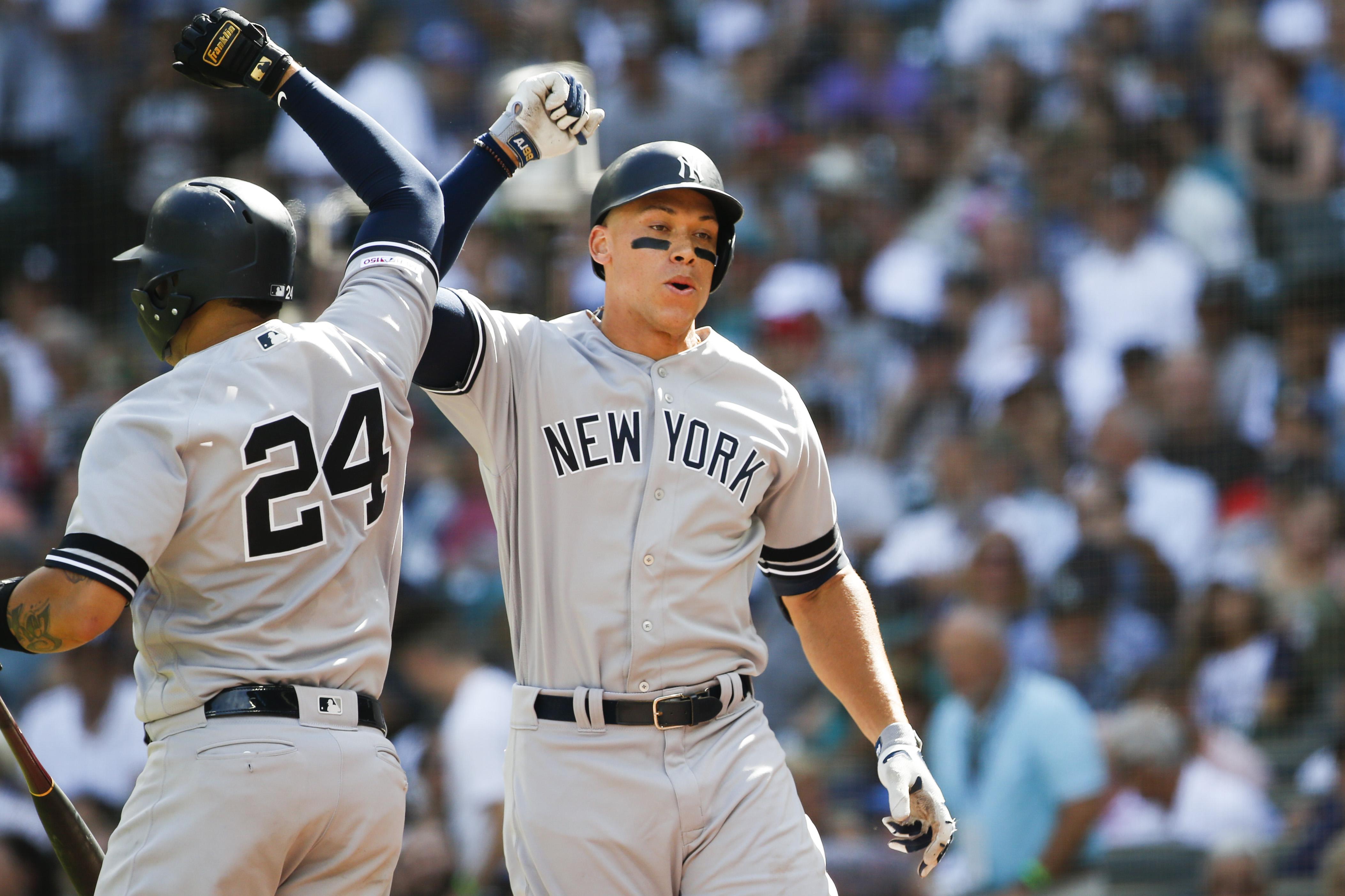 New York Yankees, NYY, Aaron Judge, Gary Sanchez