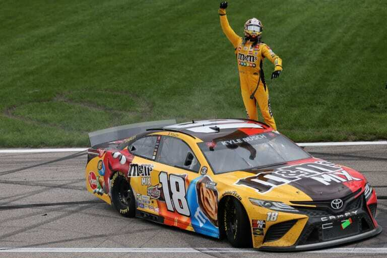 NASCAR Cup Series: Kyle Busch wins the Explore the Pocono Mountains 350 in dramatic fuel mileage race