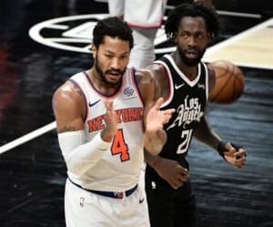 Who should the Knicks start against the Atlanta Hawks in round 1?