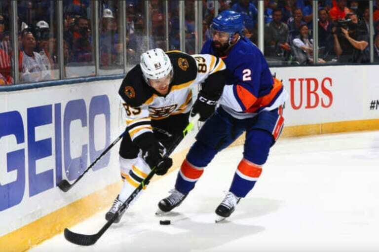 Nick Leddy finally arrived for the Islanders in the playoffs last night