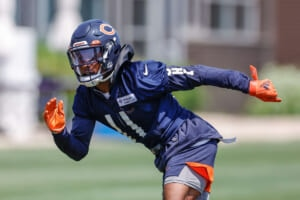 The Chicago Bears' wide receiver competition is heating up