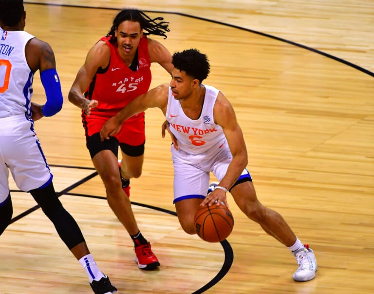 How can Knicks' rookie Quentin Grimes make any impact during his rookie season?