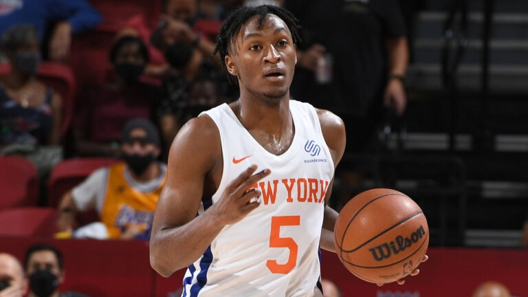 WATCH: Knicks' Immanuel Quickley shows off handles in workout video