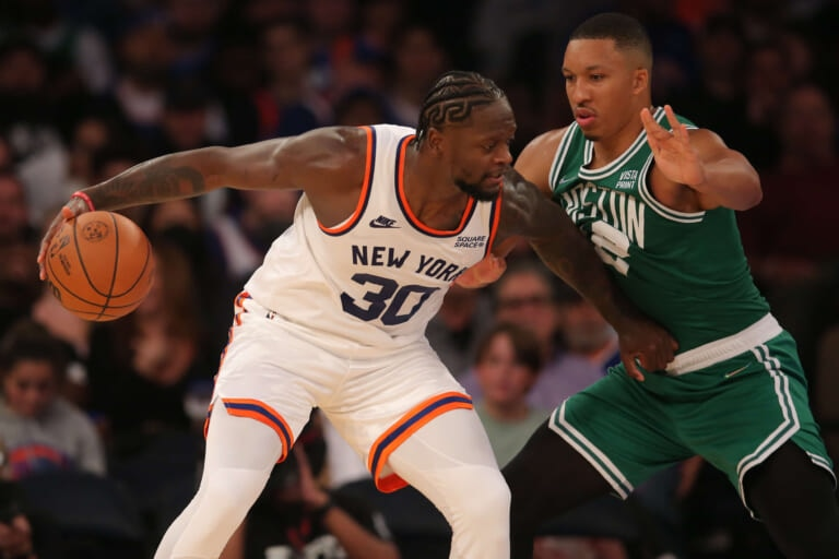 Two standout players in Knicks' double OT win over Celtics